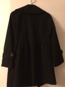 Manteau noir coupe patineuse - taille 1.