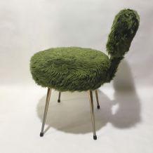 Chaise(s) moumoute verte 70s