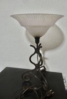 LAMPE FER FORGE ART DECO