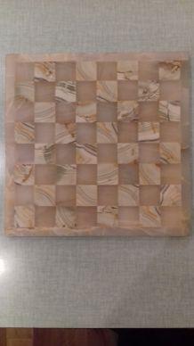 Plateau en marbre pour jeu d'échecs