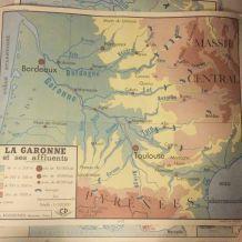 Carte affiche vintage