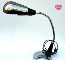 Lampe de bureau chrome articulé style Jumo 1970