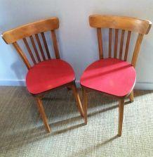Paire de chaises bistrot Luterma 50/60's
