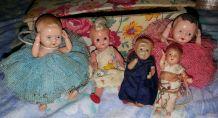 Lot d'ancienne poupée mignonnette