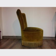 Fauteuil crapaud chauffeuse 1950