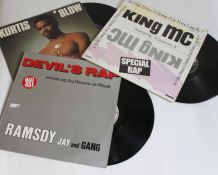 lot vinyles Ramsdy jay and gang, King MC, Kurtis Blow