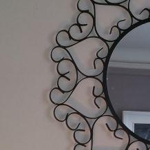 Miroir dentelle métal noir des années 60