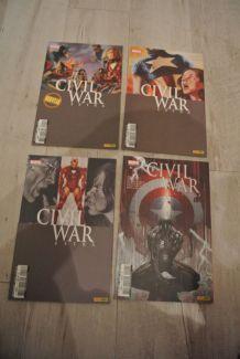 LOT BD CIVIL WAR EXTRA de 1 à 4 (PANINI COMICS) juin à décembre 2007