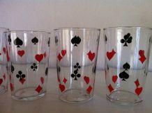 6 verres vintage