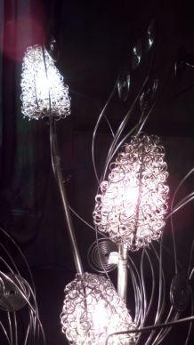 Lampadaire bouquet fleurs