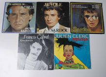vinyle Sardou, Julien Clerc, Francis Cabrel 45 tours