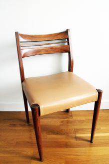 Chaise scandinave en teck vintage années 60
