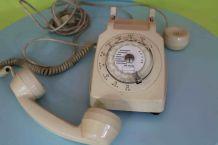 Téléphone blanc SOCOTEL S63  vintage retro