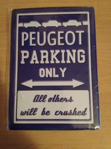 "Plaque en métal ""Peugeot"""