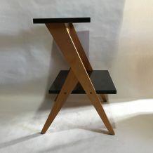 Console, étagère bois et formica 60s