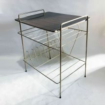 "Table d'appoint, porte-revues ""string"" 60s"