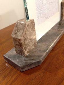Cadre à poser deux marbres gris avec vitres