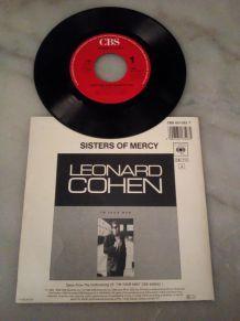 "45 TOURS LEONARD COHEN ""FIRST WE TAKE MANHATTAN"""