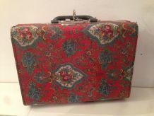 valise valisette en carton fleurie fleurs