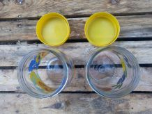"Lot de 2 pots en verre ""Le Parfait"" - Collection fruits"