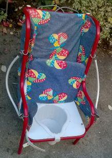 Chaise vintage années 70 / petit pot enfant
