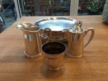 Service à thé en métal argenté