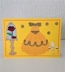 Carte princesse Belle