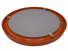 Grand miroir rond orange