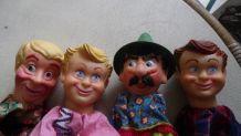 4 marionnettes vintage