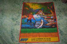serviette coton publicitaire caisse epargne ecureuil 1977
