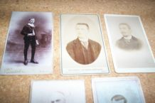 LOT 5 CARTES DE VISITES ANNEES 1890