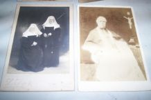 LOT PHOTOGRAPHIES FIN 1890 CLERGE PRETRE ETC ..