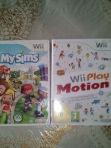Lot deux jeux de console