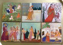 Ensemble 6 Sous verres Hindou