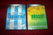 lot de 2 dvd foot ball brésil et argentine