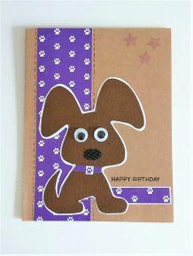 Carte d'anniversaire chien