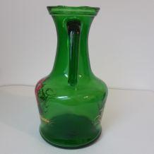 pichet en verre vintage
