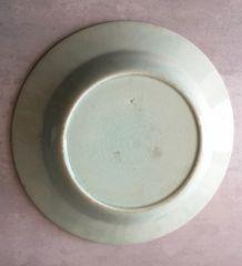 grande assiette ou plat en céramique 1900