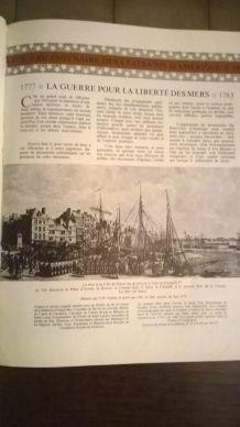 """Livre la guerre pour la liberté des mers 1778-1783"""" réédité le 4 juillet 1976"""