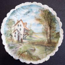 assiette ancienne en porcelaine de Limoges