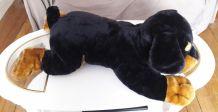 Peluche chien géant