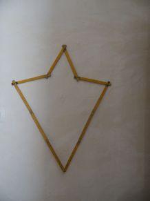 Ancien double metre bois et metal