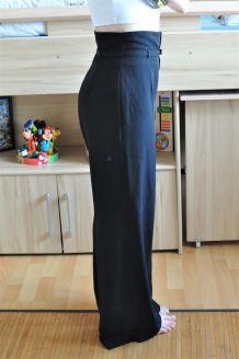 Pantalon fluide taille ultra haute noir Chattawak - Taille 38