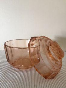 Sucrier ou bonbonnière en verre ancien