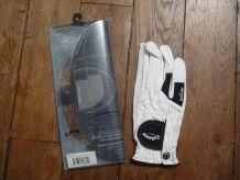 Gant De Golf Paume Droite-XSpann-Cuir Blanc-ML-Neuf-Callaway