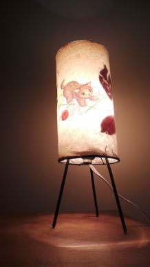 Lampe de chevet vintage tripode  pour enfant  année 40