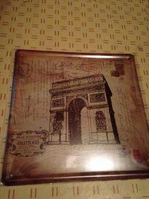 Plaque en métal Vinatge : Paris - Arc de Triomphe