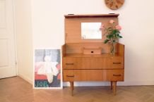 Commode coiffeuse vintage 60's pieds compas