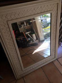 miroir encadrement blanc