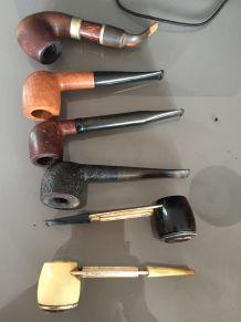 lot de 6 pipes à tabac